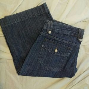 Gap 6 Low Rise Cropped Blue Jeans
